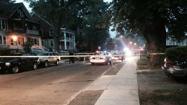 Two men were shot on Edgewood Street in Hartford early Sunday morning. (WFSB)