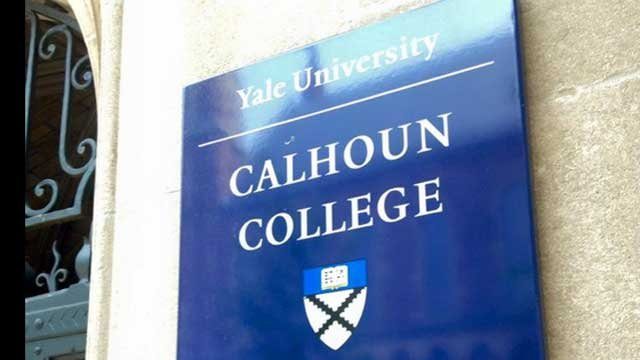 Calhoun College is named after a white supremacist. (WFSB)