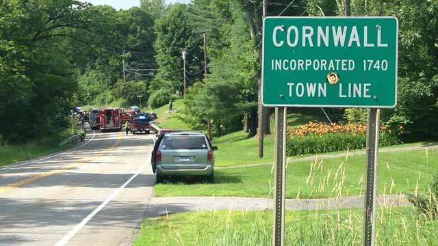 Crash closes Route 63 in Cornwall (WFSB)