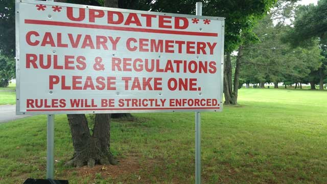 Cemetery rules upsetting visitors in Middletown (WFSB)