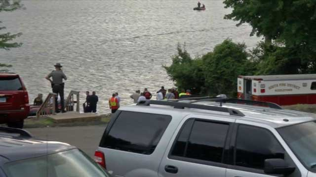 Crews conducting water rescue at Middlefield lake (WFSB)