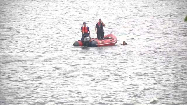 Crews searching for an adult male in Lake Beseck (WFSB)