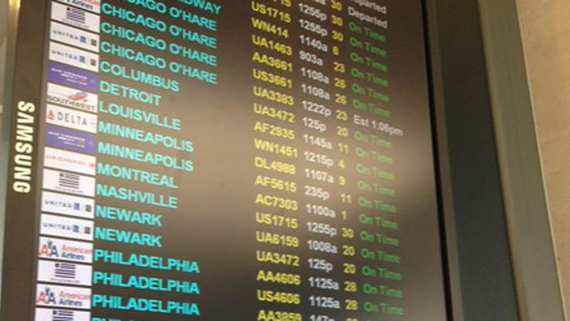 Flights resumed late Wednesday morning after a technical glitch grounded all United Airlines planes. (WFSB)