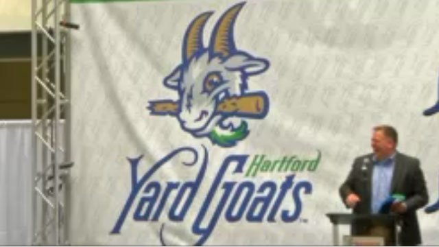 The Hartford Yard Goats unveiled their new logo and colors on Wednesday. (WFSB)