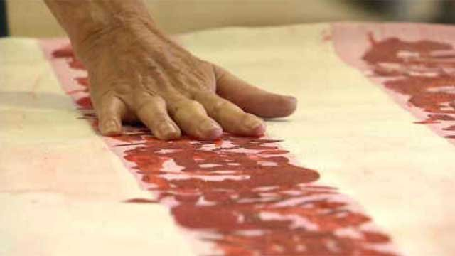 CT hand prints on flag that will fly at Freedom Tower (WFSB)