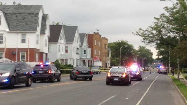 Hartford police respond to deadly shooting Thursday evening (WFSB)