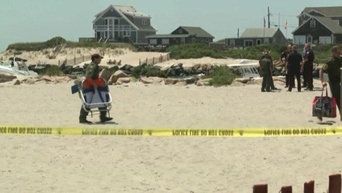 A baffling blast injured one and cleared the beach on Saturday morning. (Source: WPRI/CNN)