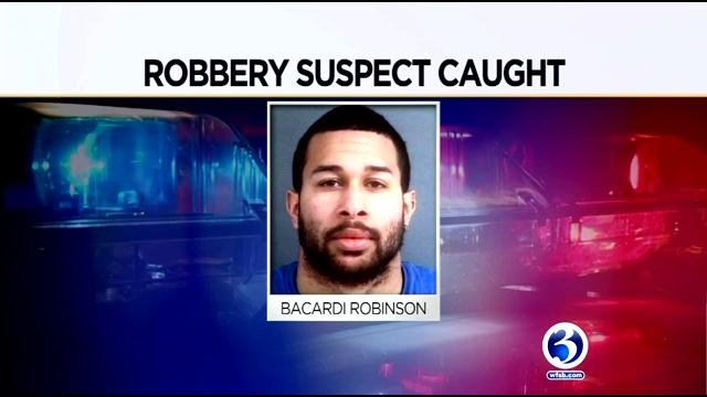 Bacardi Robinson was arrested after holding two teens hostage in Groton. (Groton Police/WFSB)