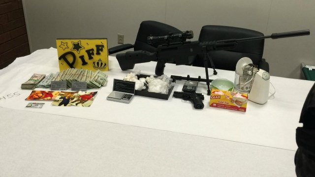 The following items were seized by police during a raid in Wallingford. (Meriden Police Department)