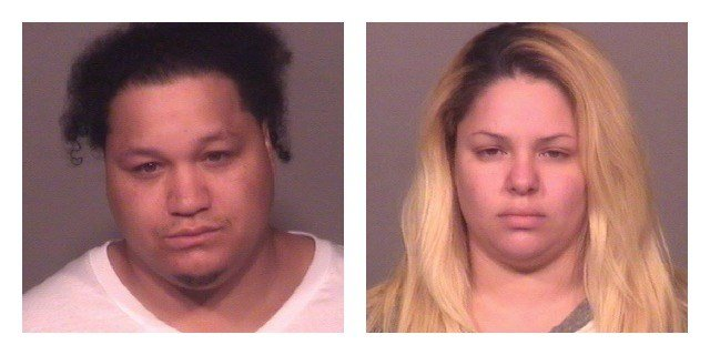 Wesley Northrup, right, and Denise Hernandez were arrested on several charges. (Meriden Police Department)