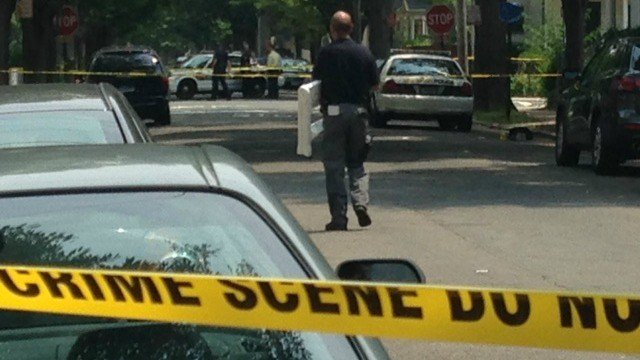 New Haven police are searching for suspect in shooting. (WFSB)