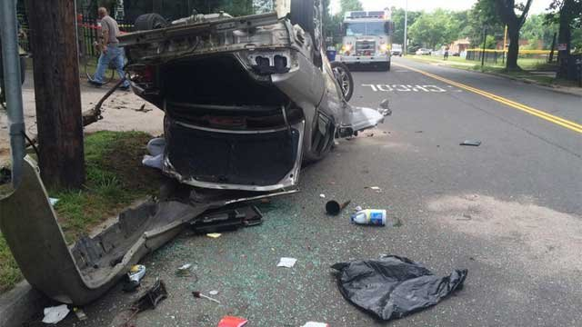 Crash on Sherman Avenue in New Haven under investigation. (@NewHavenFire)