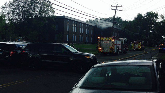 Fire causes evacuation at Bloomfield office building. (WFSB)