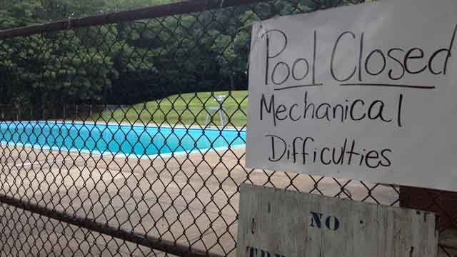 Pool in Waterbury hasn't opened for summer yet due to broken part (WFSB)