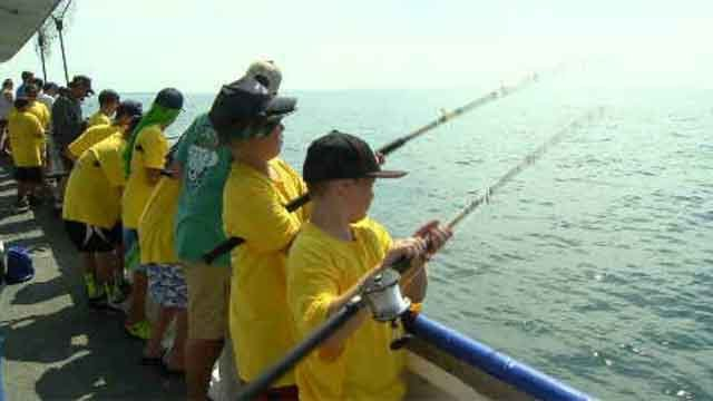 Fishing tournament creates memories for children battling cancer (WFSB)
