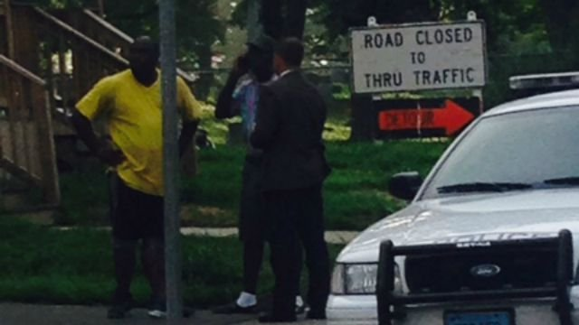 Investigators remained on scene of  fatal shooting late Wednesday afternoon. (WFSB)