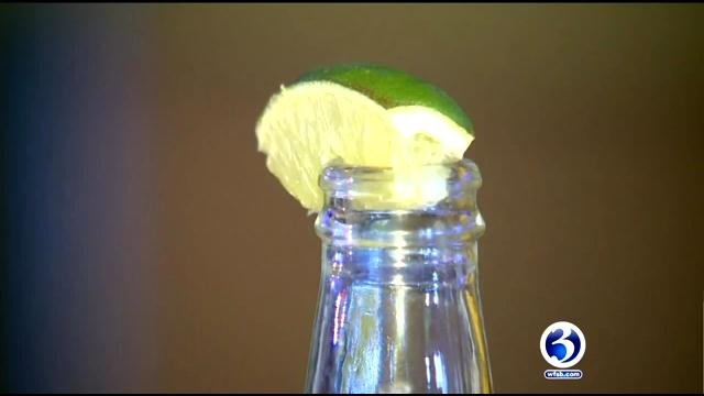 This beer with a fresh lime each day sits atop a bar in Washington State. (CNN)
