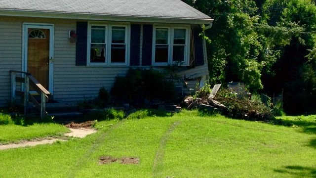 Car crashes into home in Chester on Thursday morning. (WFSB)