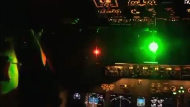Pilots reported lasers pointed at them Wednesday night as they flew over New Jersey. (CNN)