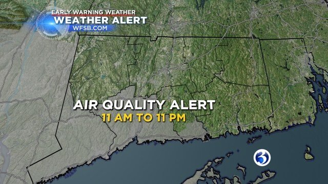 Air quality alert issued from 11 a.m. to 11 p.m. (WFSB Graphic)