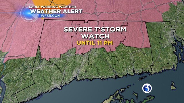 Heat advisory until Sunday afternoon. (WFSB graphic)
