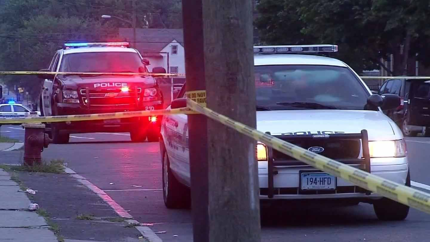 The scene of the latest shooting on Judson Street in Hartford. (WFSB photo)