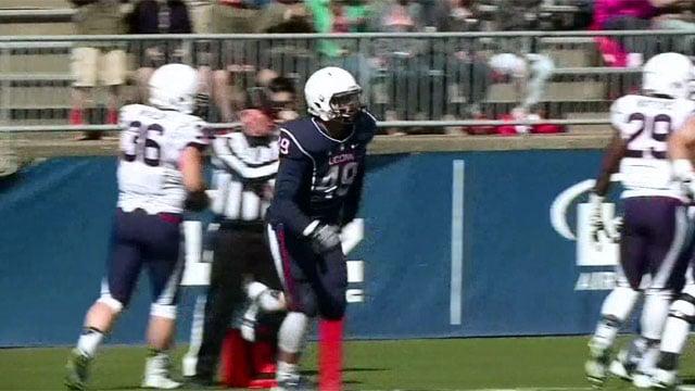 Sean McQuillan during a UConn game. (WFSB file photo)