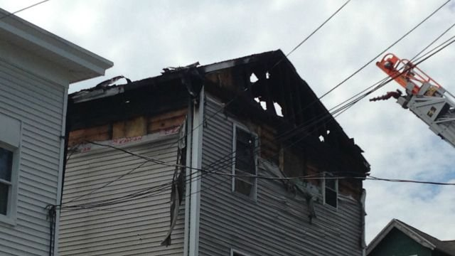 The roof of a home on Congress Avenue is gone after a fire on Monday. (WFSB)