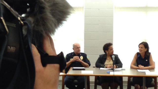 Round table in East Haven with US Attorney General Loretta Lynch highlighting changes within the police department. (WFSB)
