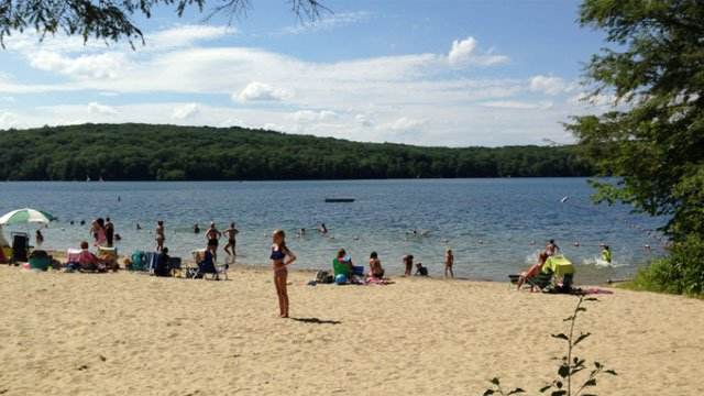 A child was pulled from West Hill Lake in New Hartford on Tuesday. (WFSB)