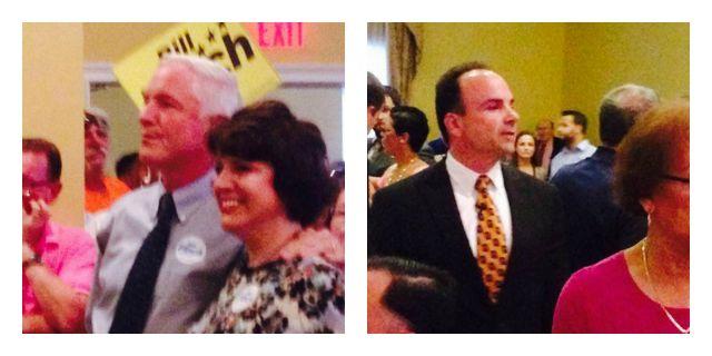Bill Finch won the Democratic nomination for mayor of Bridgeport over Joe Ganim, left. (WFSB)
