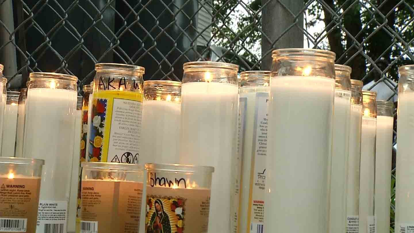 A vigil was held Tuesday night for Jonathan Whaley. (WFSB photo)