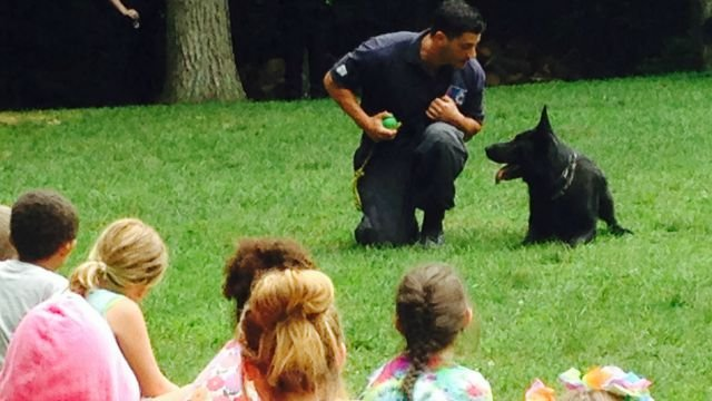 Campers celebrate Law enforcement day at the Channel 3 Kids Camp in Andover. (WFSB)