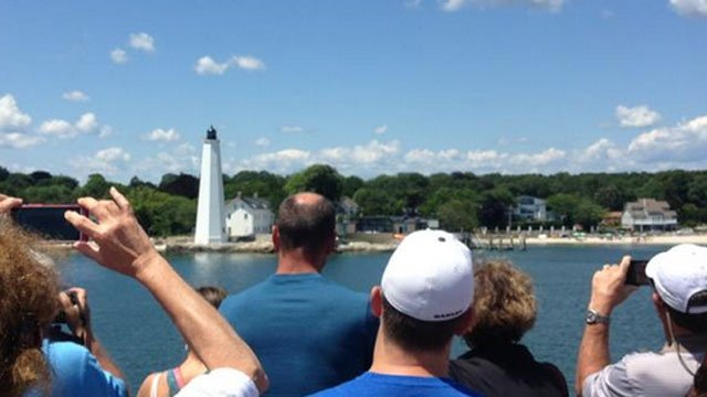 Eyewitness News took a tour along the Long Island Sound where passengers see eight lighthouses. (WFSB)