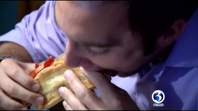 Customers were enjoying hot dogs at Woody's on Thursday. (WFSB)