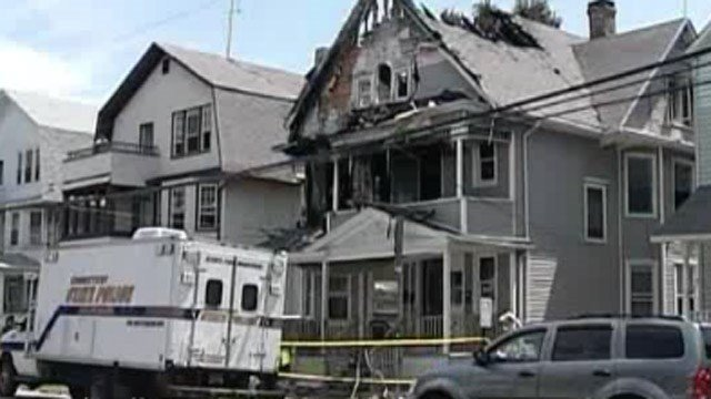 The scene of the deadly fire on Elmwood Avenue in Bridgeport. (WFSB file photo)