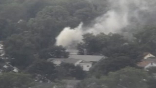 Smoke could be seen for miles after a fire in Hartford on Sunday. (WFSB)