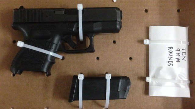 The Glock pistol confiscated by Hartford police. (Hartford police photo)