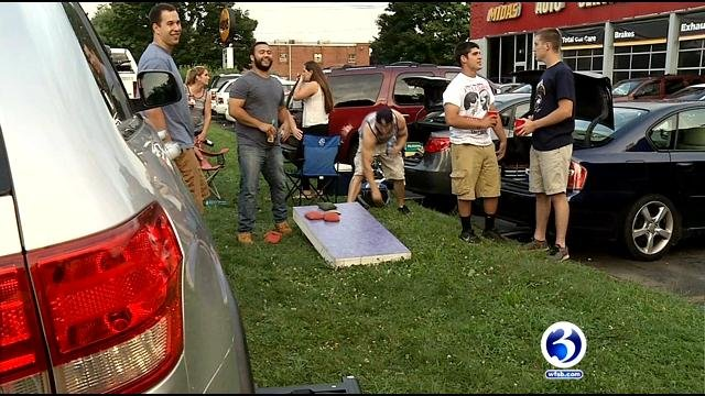 Concertgoers tailgate before Brad Paisley took the stage on Saturday night. (WFSB)