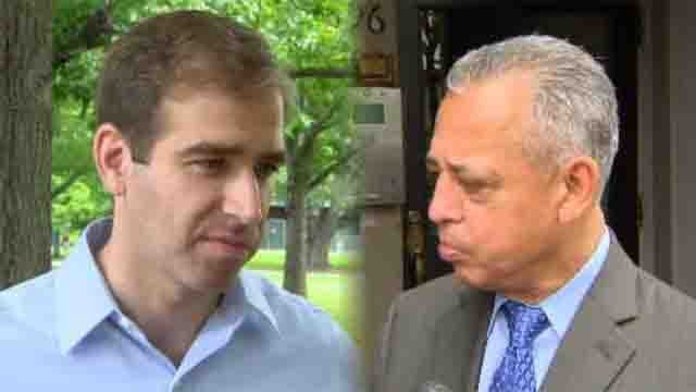 Luke Bronin and Mayor Pedro Segarra (WFSB)