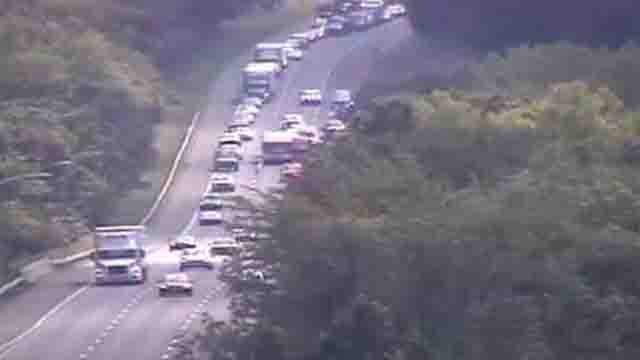 Two people were killed in rollover crash on I-84 in Southington. (WFSB)