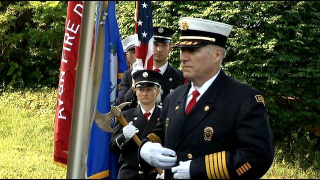 A memorial service was held just before 7:30 a.m. on Wednesday. (WFSB photo)