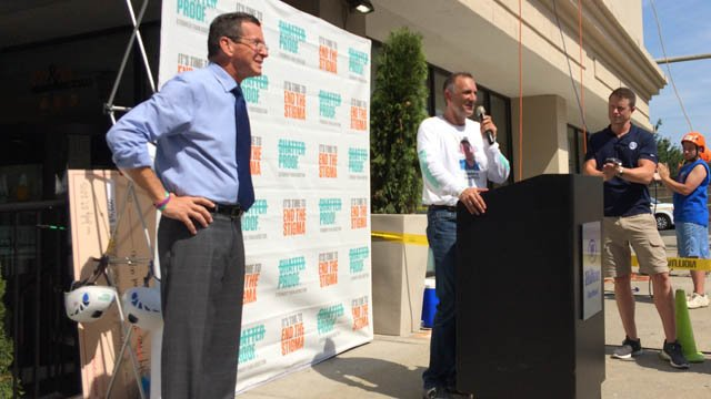 Gov. Dannel Malloy attended this morning's Shatterproof Challenge in Hartford. (WFSB photo)