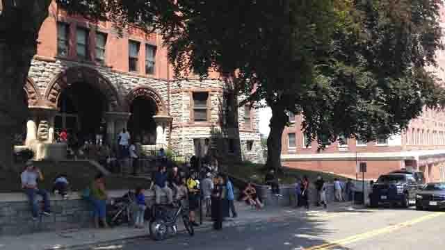 Bridgeport courthouse evacuated on Wednesday (WFSB)