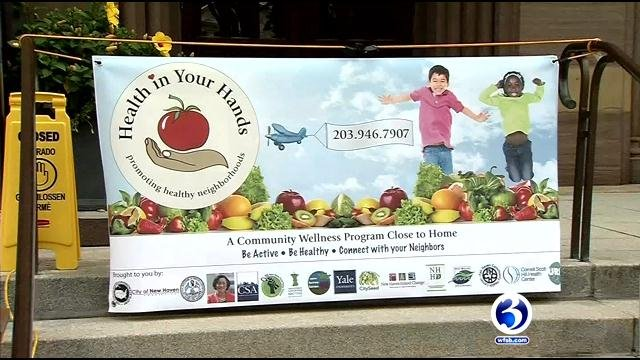 Health in Your Hands program  was started in New Haven on Wednesday. (WFSB)