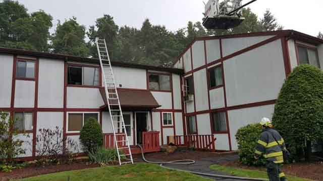 Danbury residential building struck by lightning (Danbury Mayor Mark Boughton)