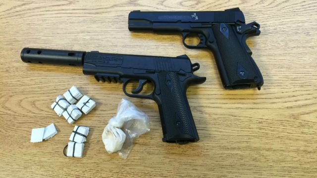 Police seized these items during the arrest. (New London Police Department)