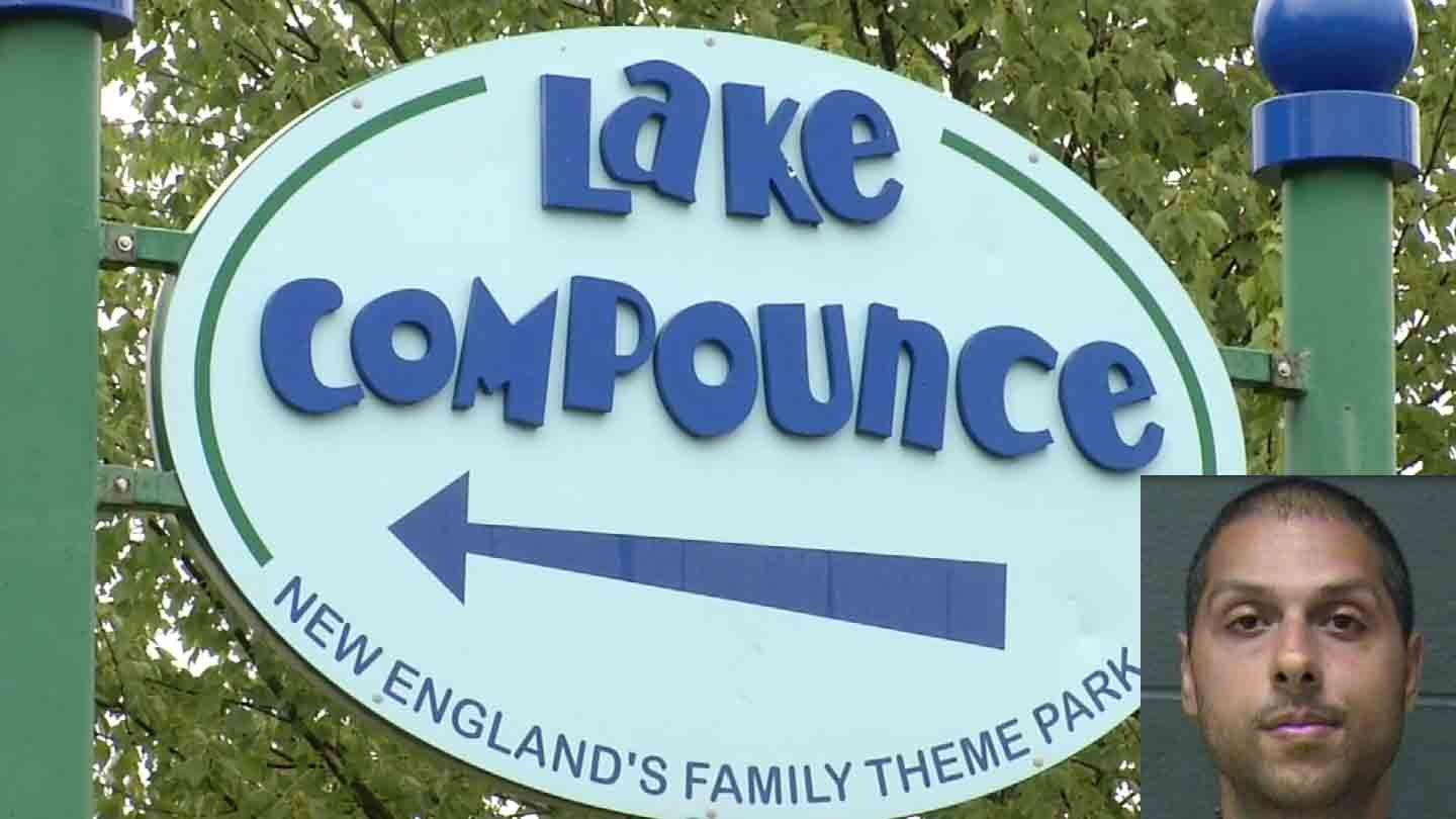 Tyler Bhulai was arrested for exposing himself at Lake Compounce. (Southington police/WFSB photos)