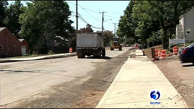Gravel Street construction has been plaguing the Aresco's Superette in Meriden. (WFSB photo)