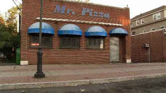 A man died after being shot near a pizza parlor Saturday night (WFSB)